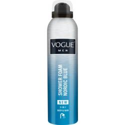 Men nordic blue shower foam