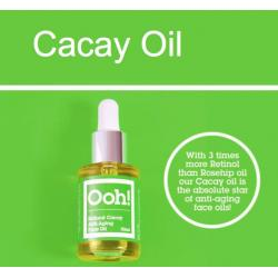 Natural cacay anti-aging face oil