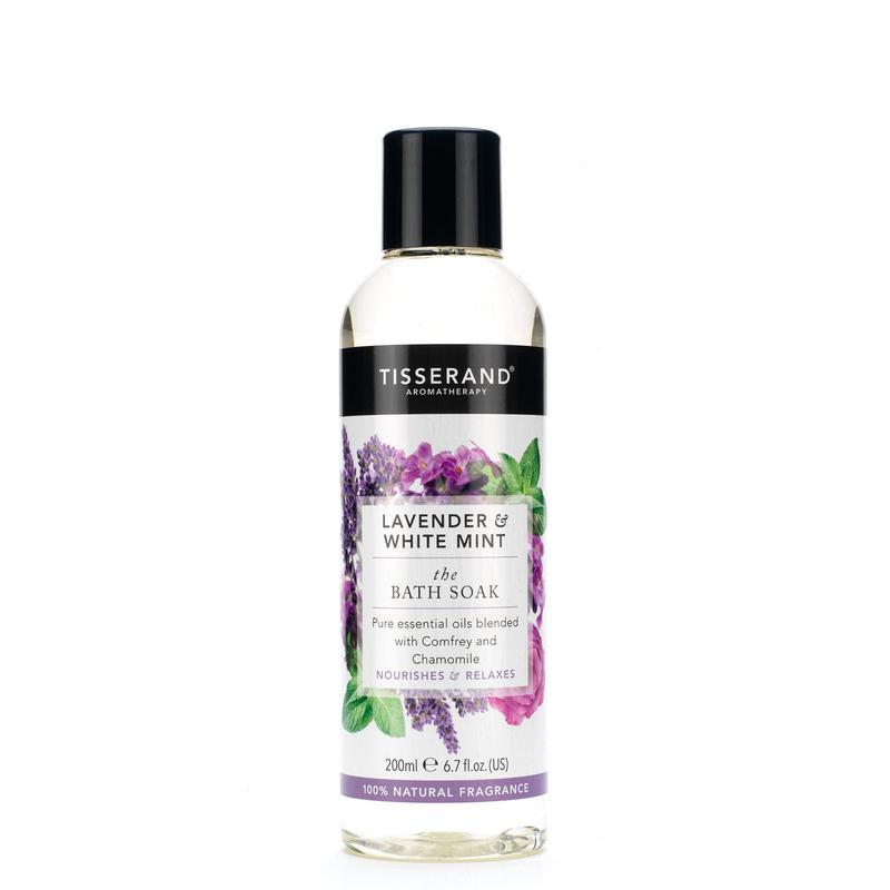 Bath soak lavender white mint
