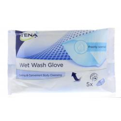 Wet wash glove freshly