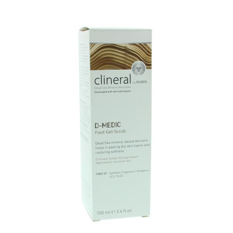 Clineral D-medic foot gel scrub
