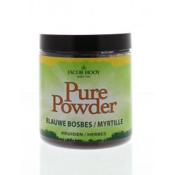 Pure powder blauwe bes