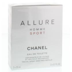 Allure sport giftset 3 x 20 ml